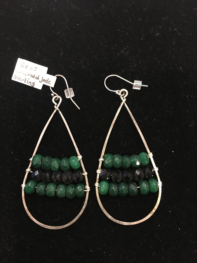 Emerald Jade Sterling | Rach B-Earrings-Sterling-and-Burke