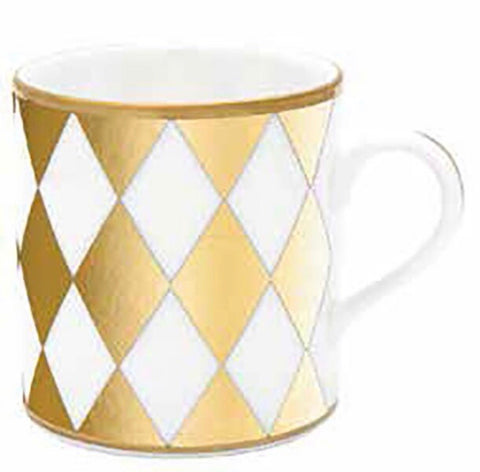 Halcyon Days Parterre Mug in Gold-Bone China-Sterling-and-Burke