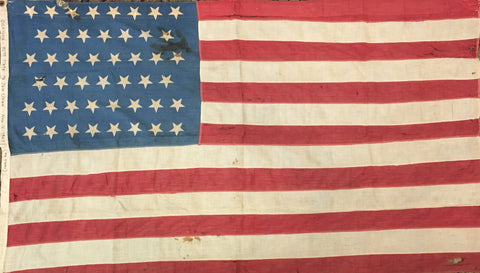 46 Star Flag, 54.5 by 33.5 Inches-Vintage Flag-Sterling-and-Burke
