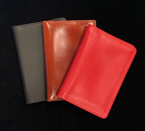 Charing Cross Card Case with Two Windows | Smooth Calf Leather  | Made in England | Sterling and Burke