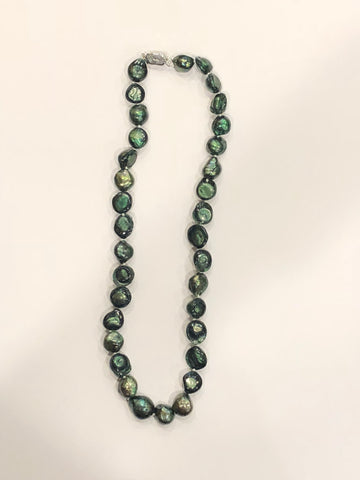 "Pearl Necklace | Fresh Water Pearls | Single Strand | Hand Knotted Pearls | 12"" Necklace 