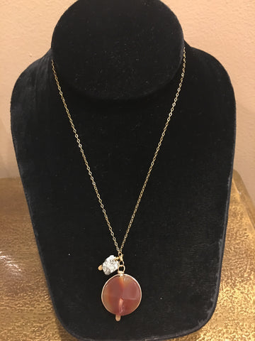 Carnelian with Pyrite Necklace | Rach B-Necklace-Sterling-and-Burke