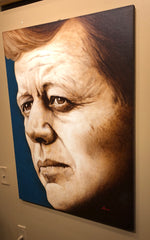 JFK Portrait | President Kennedy by Artist, Andres Acosta-Presidential Portrait-Sterling-and-Burke