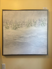 "Art | Snow Drifts | Original Oil Painting by Claire Howard | 36"" x 36""-Oil Painting-Sterling-and-Burke"