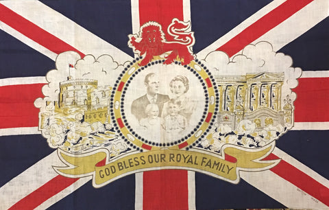 God Bless the Royal Family British Flag | British Made | Vintage UK Flag | 34 by 22 Inches-Vintage Flag-Sterling-and-Burke