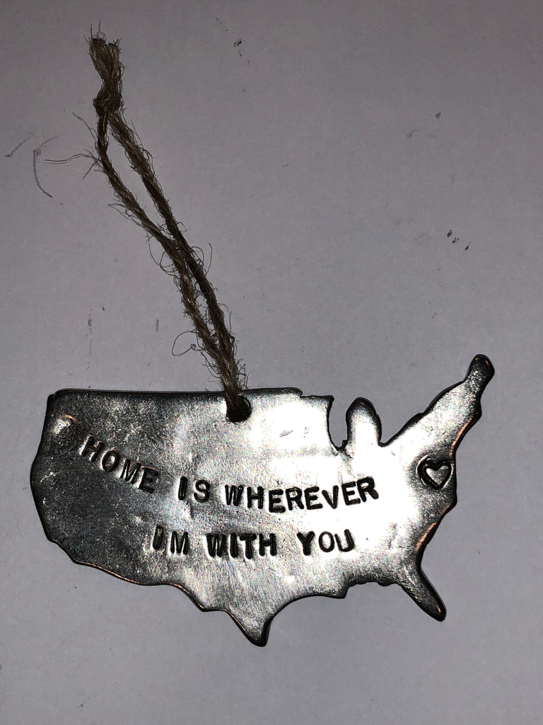 """Home is wherever Im with you"" Ornament-Ornament-Sterling-and-Burke"