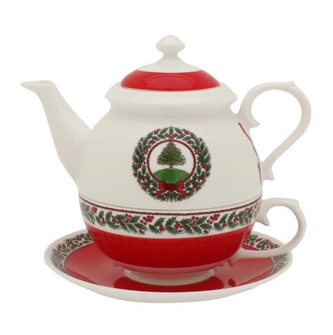 Halcyon Days Vintage Christmas Tree Tea for One