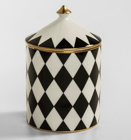 Halcyon Days Parterre Jasmine Lidded Candle in Black