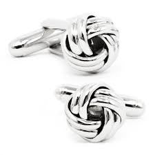 Knot Cufflinks - Silver-Cufflinks-Sterling-and-Burke