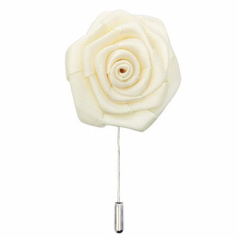 Isabelle Silk Floral Lapel Pin-Lapel Pin-Sterling-and-Burke
