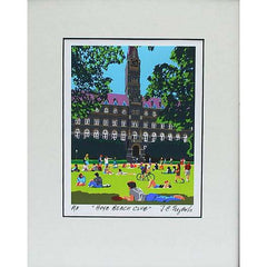 Georgetown University | Georgetown Univ Hoya Beach Club Art | Artist Joseph Craig English | 11 by 14 inches-Giclee Print-Sterling-and-Burke