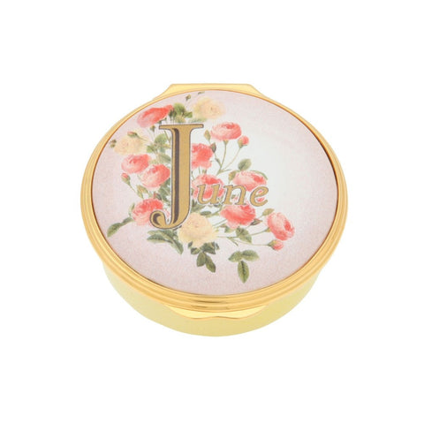 "Halcyon Days ""June"" Enamel Box"