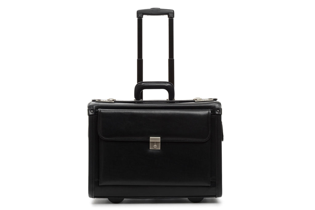 Mobilemax Wheeled Leather Catalog Case | Leather Wheeled Trial Bag-Catalog Case-Sterling-and-Burke