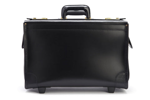 Litigator 20 Inch Wheeled Leather Catalog Case | Trial Bag