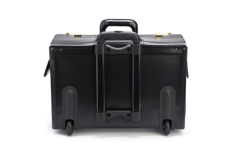 Litigator 18 Inch Wheeled Leather Catalog Case-Catalog Case-Sterling-and-Burke