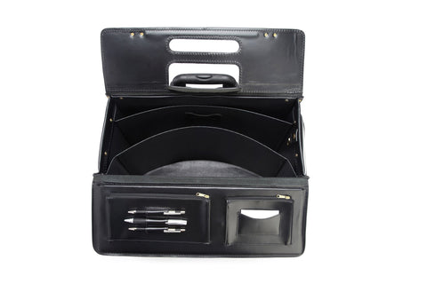 Litigator 20 Inch Wheeled Leather Catalog Case | Trial Bag-Korchmar Business-Sterling-and-Burke