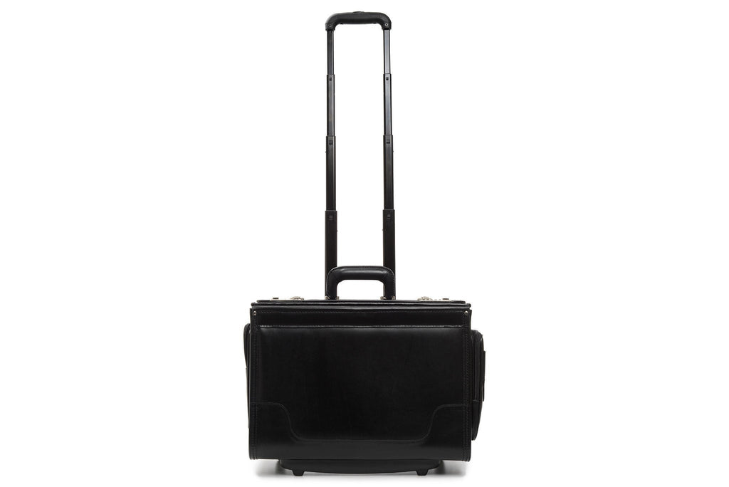 Counselor 18 Inch Wheeled Leather Catalog Case-Korchmar Business-Sterling-and-Burke