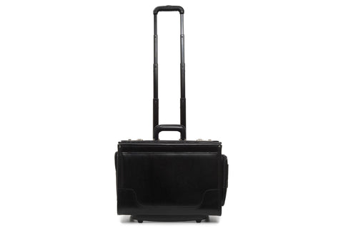Counselor 18 Inch Wheeled Leather Catalog Case