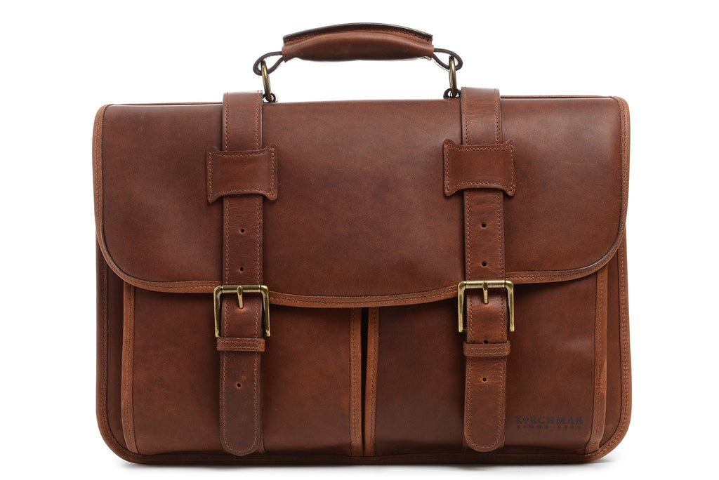 Garfield Leather Brief Bag-Brief Bag-Sterling-and-Burke