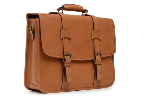 Diplomat Leather Computer Brief-Brief Bag-Sterling-and-Burke