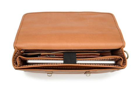 Diplomat Leather Computer Brief-Korchmar Business-Sterling-and-Burke