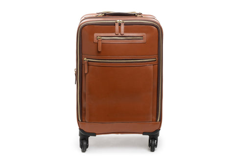 Emerson Lux Leather Wheeled Carry On