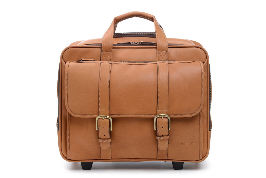 Kenton Overnight Wheeled Leather Brief Bag-Brief Bag-Sterling-and-Burke