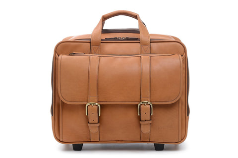 Kenton Overnight Wheeled Leather Brief Bag