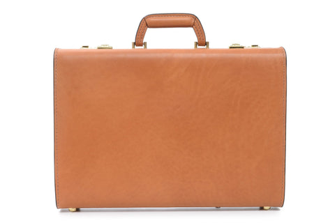 Attache Case | Belting Leather | Monroe Classic | 4 Inch Attache | Korchmar | Tan or Black