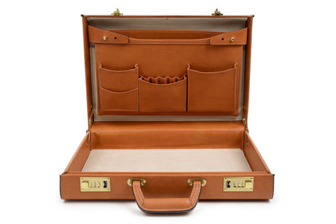 Attache Case | Belting Leather | Monroe Classic | 5 Inch Attache | Korchmar | Black or Tan