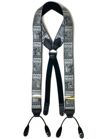 Budd Braces / Suspenders | Limited Edition | L'Amour | Budd Shirtmakers | Made in England-Braces / Suspenders-Sterling-and-Burke