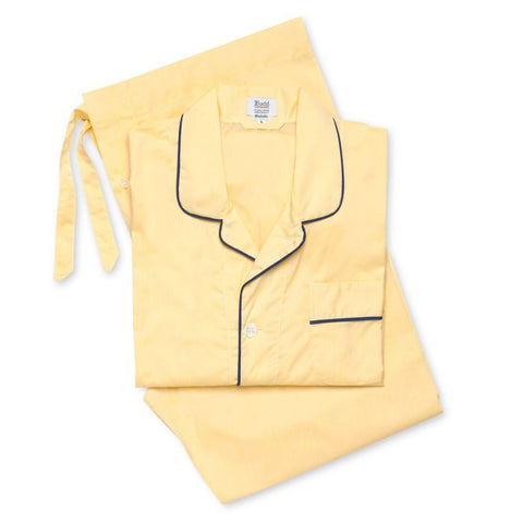Budd Batiste Men's Pajamas in Lemon and Navy
