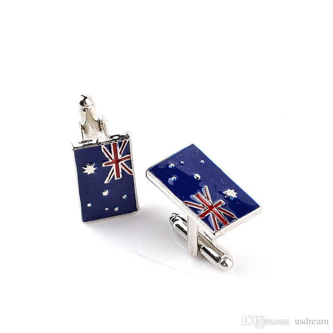 Australian Flag Cufflinks-Cufflinks-Sterling-and-Burke
