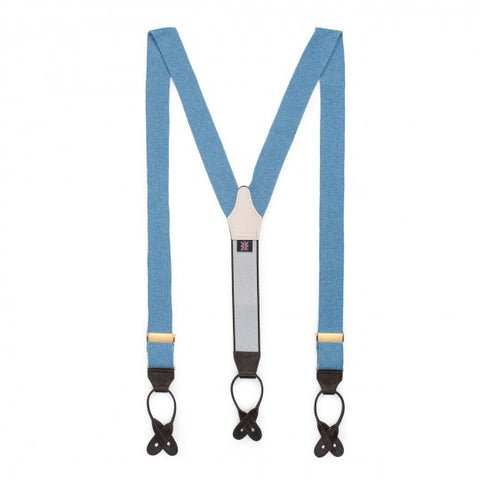 Budd Braces / Suspenders | Plain Cashmere Braces | Budd Shirtmakers | Made in England