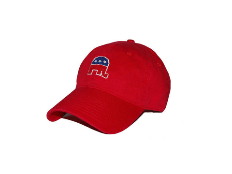 Republican Needlepoint Hat, Red-Hat-Sterling-and-Burke