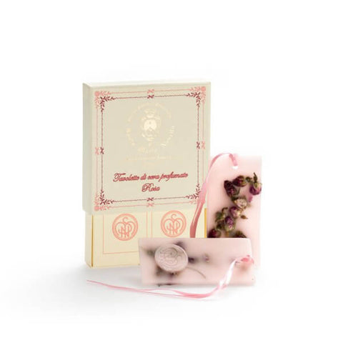 Santa Maria Novella Rose Scented Wax Tablets, Box of 2