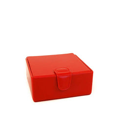 Large Stud Box | Cufflink and Jewelry Box | Travel | English Bridle Leather | Red, Black | Sterling and Burke-Stud Box-Sterling-and-Burke