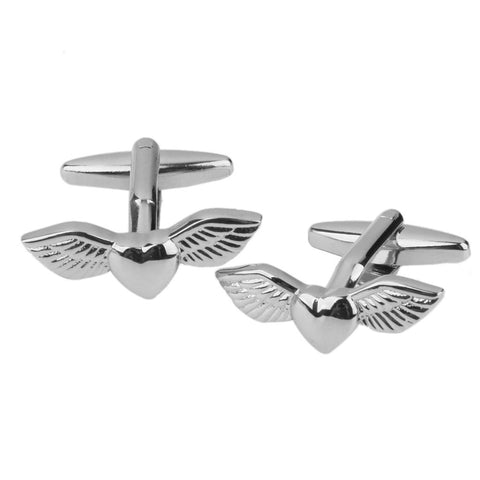 Tattoo Wings Cufflinks | Silver | Sterling and Burke-Cufflinks-Sterling-and-Burke