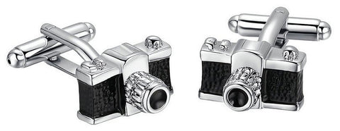 Single Lens Camera Cufflinks-Cufflinks-Sterling-and-Burke