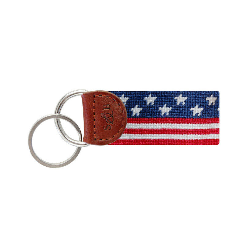 Old Glory Key Fob-Key Fob-Sterling-and-Burke
