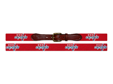 Washington Capitals® Needlepoint Belt-Belt-Sterling-and-Burke