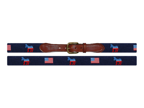 Democrat Needlepoint Belt