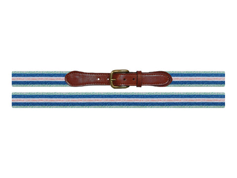 Surfer Stripe Needlepoint Belt