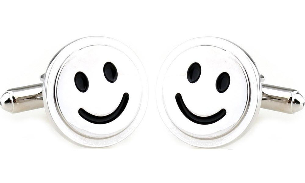 Smiley Face Cufflinks-Cufflinks-Sterling-and-Burke