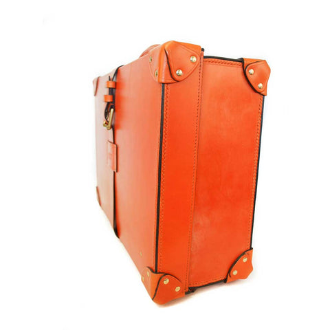 Leather Trunk Suitcase | 18 Inch Carry On | Wheels and Trolley Option | Hand Stitched | Luxury Travel | English Bridle Leather | Sterling and Burke-Suitcase-Sterling-and-Burke