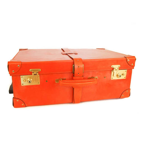 All Leather Trunk Suitcase, 21 Inch, BESPOKE