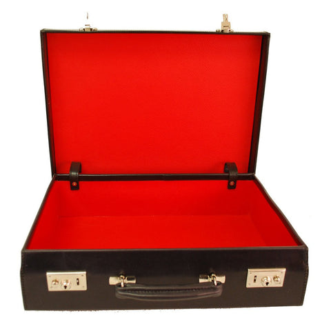 Bond Style 4 Inch Attache Case, BESPOKE | Hand Stitched | English Leather | Sterling and Burke