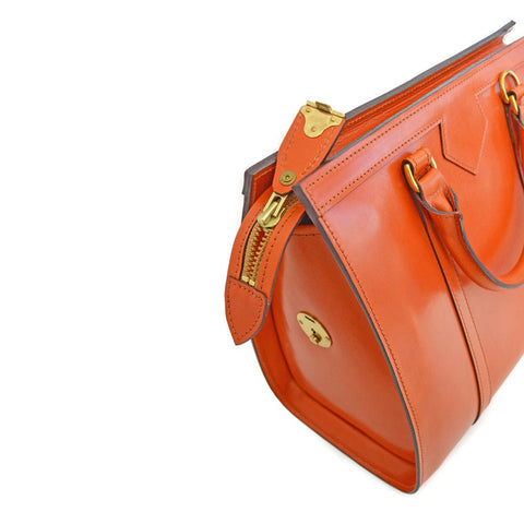 Carry-All Beatrice Handbag, London Tan | Hand Stitched | English Leather | Sterling and Burke-Handbag-Sterling-and-Burke