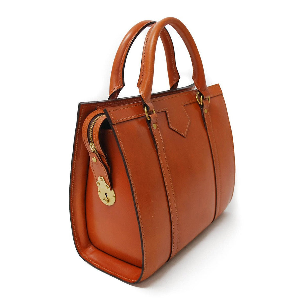Classic Beatrice Handbag, Dark London Tan | Hand Stitched | English Leather | Sterling and Burke-Handbag-Sterling-and-Burke