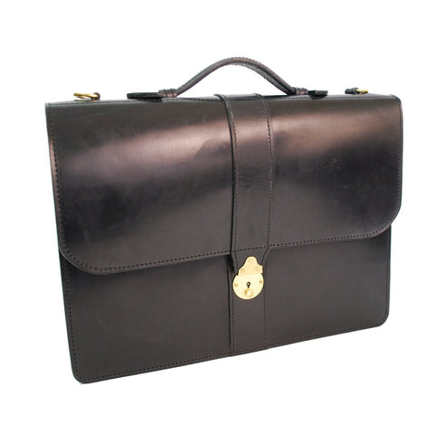 District Document Case, Black | Hand Stitched | English Leather | Sterling and Burke